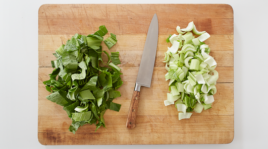 how to clean and trim bok choy