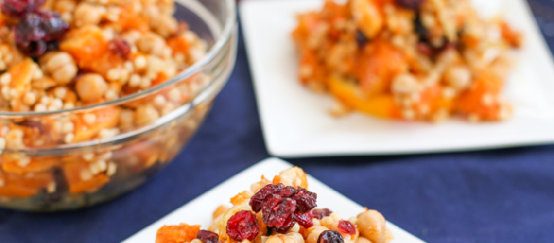 Couscous Salad with Butternut Squash, Oranges and Cranberries